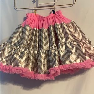 Chic by Tutu Couture Pink wi/ gold & white stripe